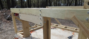 Large opening braced for a straw bale wall