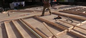 Timber framed wall preparation