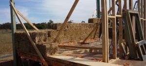 Structural infill straw bale construction