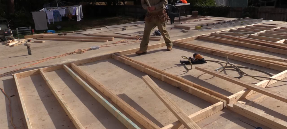 Timber frame wall preparation – Straw Bale House Building Workshop